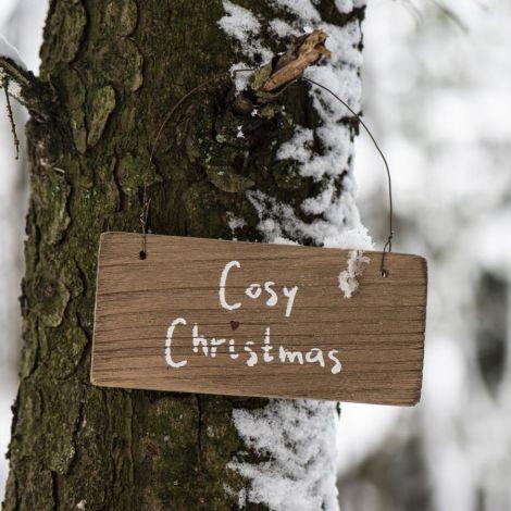 IB LAURSEN Holzschild Cosy Christmas