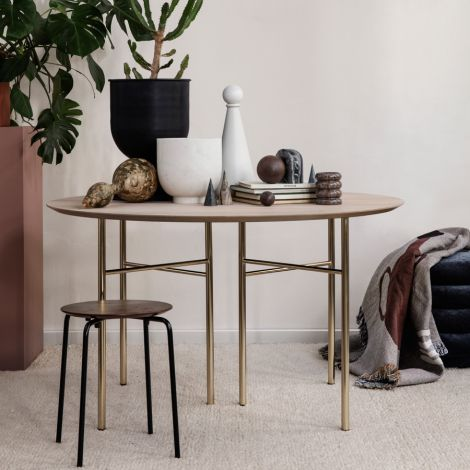 ferm LIVING Tischbeine Mingle Brass 48 cm 2er-Set