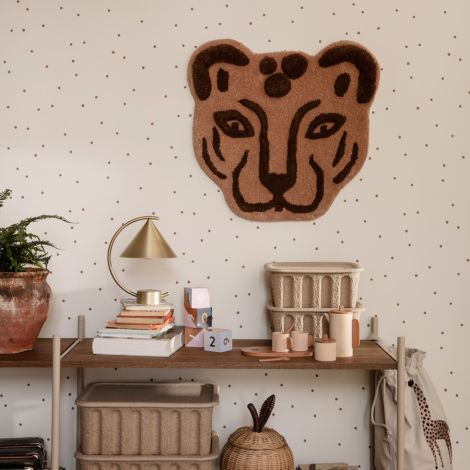 ferm LIVING Leopard Kopf getuftet Brown