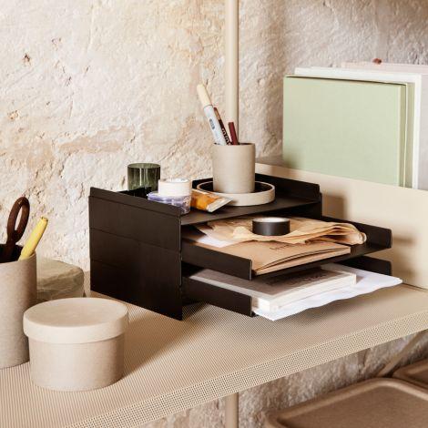 ferm LIVING Schreibtisch-Organiser 2x2 Black