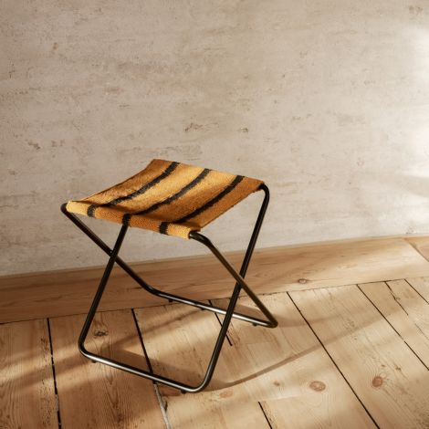 ferm LIVING Hocker Desert Black/Stripe