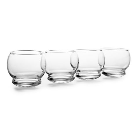 Normann Copenhagen Rocking Wackel-Trinkglas 250ml 4er-Set