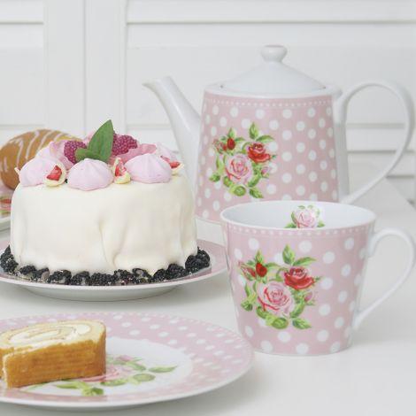 Krasilnikoff Happy Cup Tasse Dots n' Roses