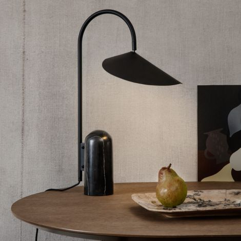 ferm LIVING Tischplatte Mingle Oval Black Stained Oak Veneer 220 cm