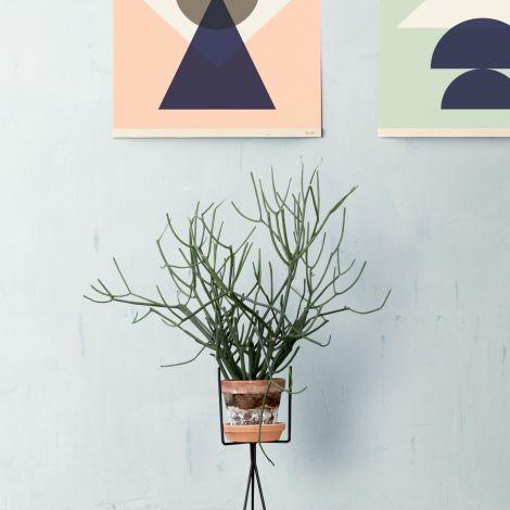 ferm LIVING Pflanzenständer Black Low