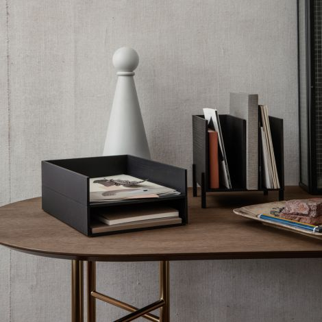 ferm LIVING Briefablage Dark Stained Ash