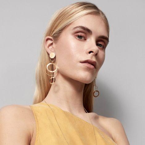 Dansk Smykkekunst Ohrringe Alyssa Double Versilbert