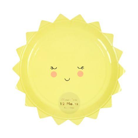 Meri Meri Pappteller Small Sun 12 Stk.