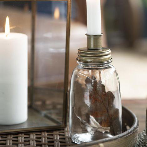 IB LAURSEN Kerzenhalter für Stabkerze Messing