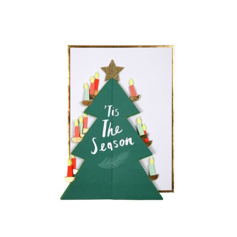 Meri Meri Karte Weihnachtsbaum Wabenmuster