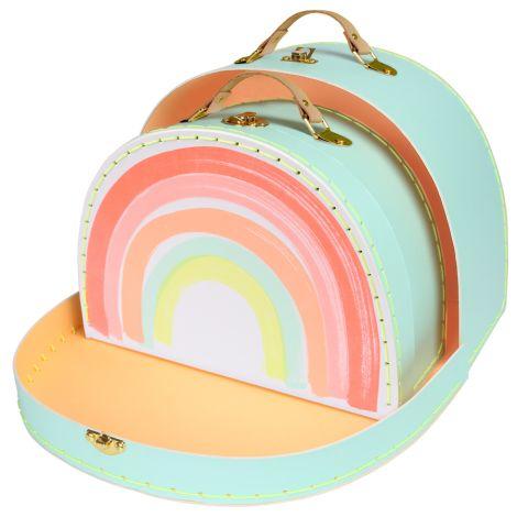 Meri Meri Koffer Regenbogen 2er-Set