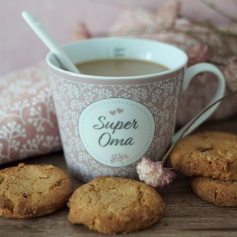 Krasilnikoff Tasse Happy Cup Super Oma