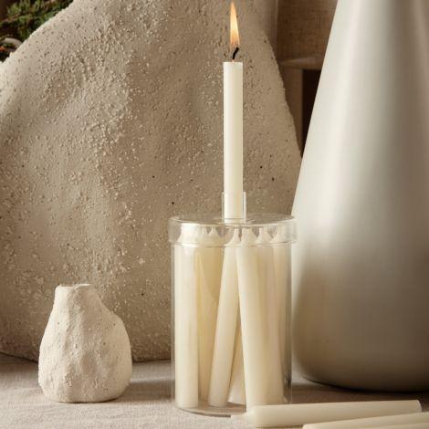ferm LIVING Kerzen im Glas Off-White 24 Stk.