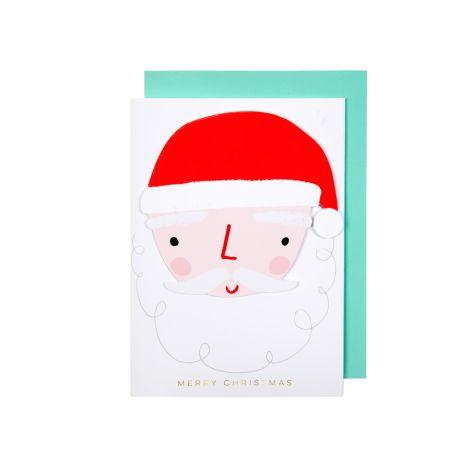 Meri Meri Karte Weihnachtsmann mit Anhänger •