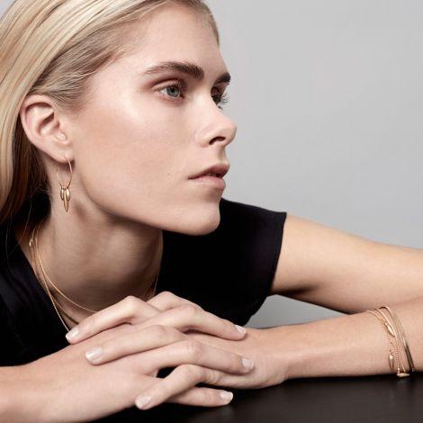 Dansk Smykkekunst Armband Daisy Bloom Vergoldet •