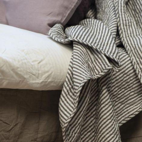 IB LAURSEN Tagesdecke Quilt Weiß mit Streifen