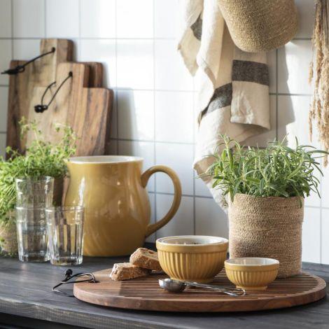 IB LAURSEN Kleine Schalen Mynte Mustard 3er-Set