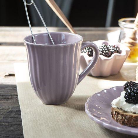 IB LAURSEN Tasse mit Rillen Mynte Lavender