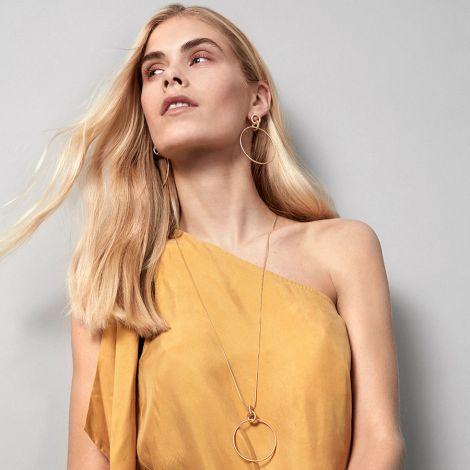 Dansk Smykkekunst Ohrringe Infinity Hoop Versilbert •