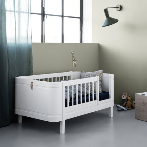 Oliver Furniture Baby- und Kinderbett Wood Mini+ Basic Weiß