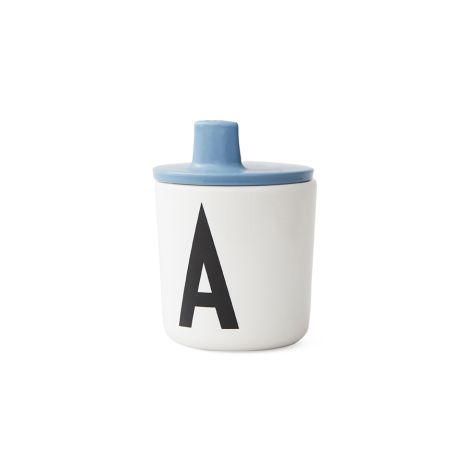 Design Letters Trinkaufsatz für Melamin Becher Blue