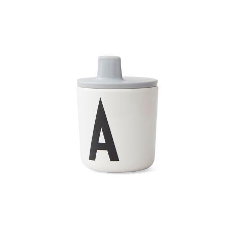 Design Letters Trinkaufsatz für Melamin Becher Grey