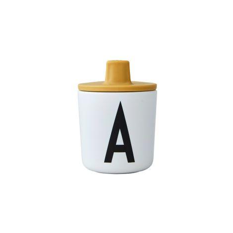 Design Letters  Trinkaufsatz für Melamin Becher Mustard