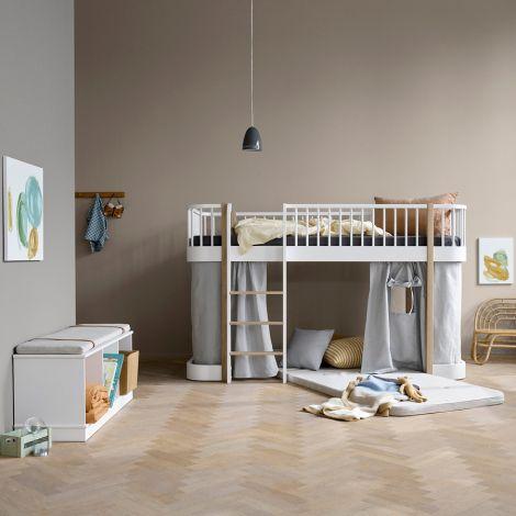 Oliver Furniture Spielmatratze für Wood halbhohes Hochbett 90 x 200 cm
