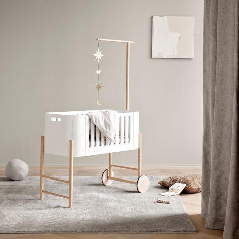Oliver Furniture Wood Beistellbett inkl. Umbauset zur Bank Weiß/Eiche