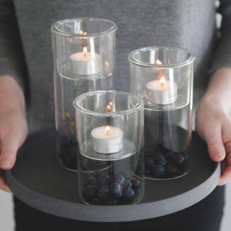 Storefactory Kerzenhalter mit Deko Aufbewahrung Mjövik