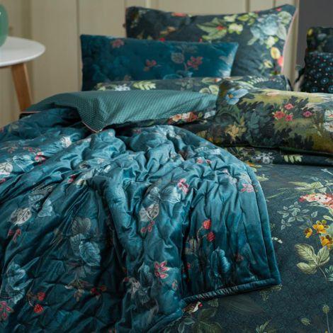 PIP Studio Tagesdecke Quilt Leafy Stitch Blue