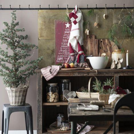 IB LAURSEN Holzschild Weihnachtstext