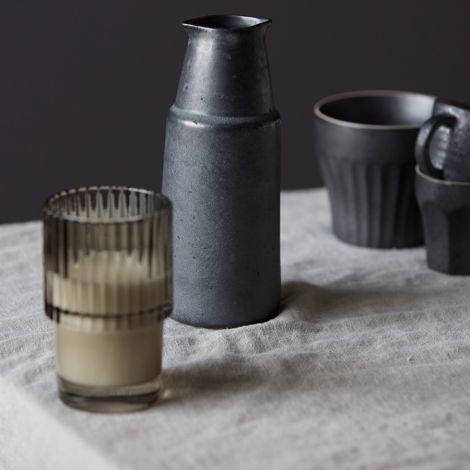 House Doctor Flasche Pion Schwarz/Braun 18 cm