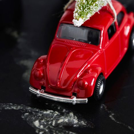 House Doctor Dekoauto Mini Xmas Car Rot