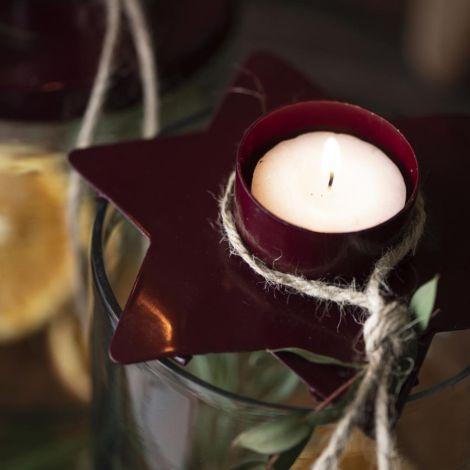 IB LAURSEN Glas mit Kerzenhalter für Teelicht Stern