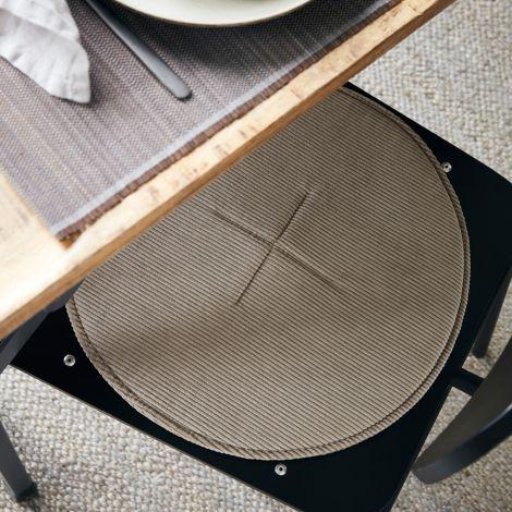 House Doctor Stuhlkissen Cord Sand 35 cm