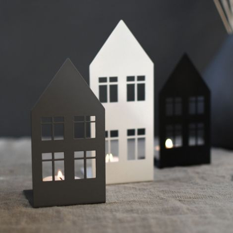 Storefactory Teelichthalter/Dekohaus Storgatan Large White