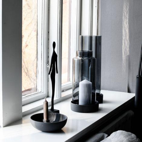 Storefactory Schale/Tablett für Kerzen Storm Dark Grey