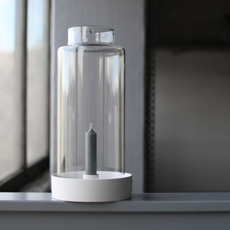 Storefactory Glaszylinder für Windlichtbasis Storm