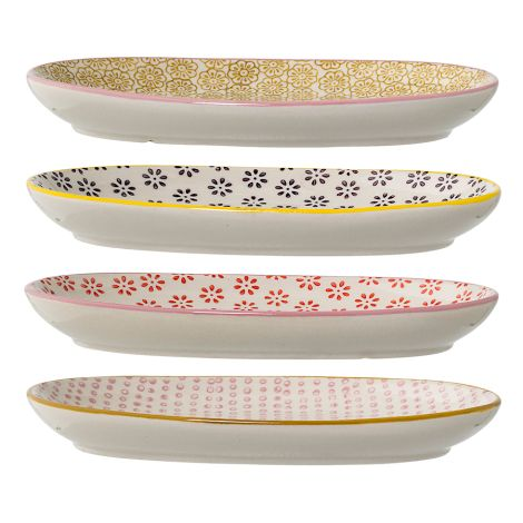 Bloomingville Teller oval Susie Multi-Color 4er-Set
