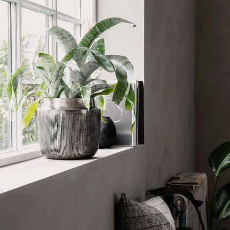 House Doctor Vase/Blumentopf Heylo Silber Oxidiert