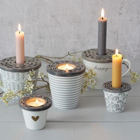 Krasilnikoff Kerzenhalter-Deckel für Espressotassen