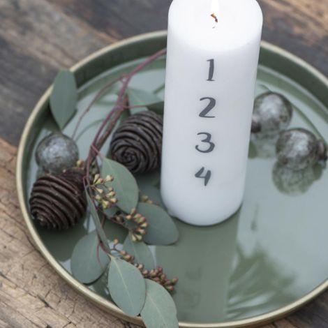 IB LAURSEN Tablett innen olivengrün 26 cm