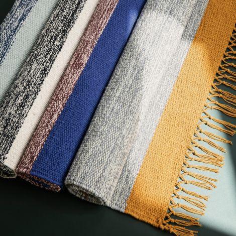 ferm LIVING Teppich Melange Blue •