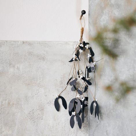House Doctor Deko-Anhänger Mistletoe Schwarz 40 cm