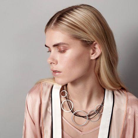 Dansk Smykkekunst Kette Alyssa Double Hämatitüberzug •