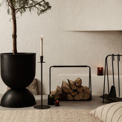 ferm LIVING Brennholzkorb Port Black