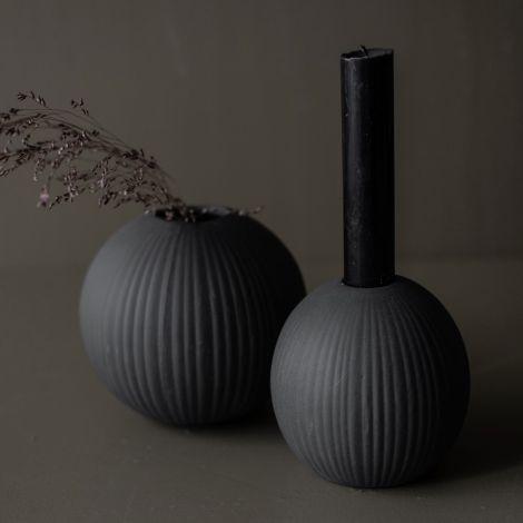 Storefactory Kerzenhalter Vena Dark Grey