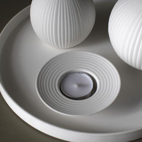 Storefactory Teelichthalter Tveta Small White
