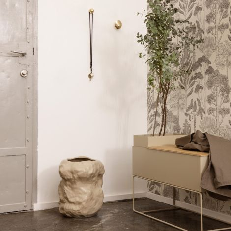 ferm LIVING Tapete Katie Scott Trees Off-White